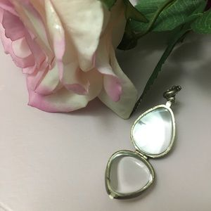 NEW Transparent Teardrop Locket Pendant necklace